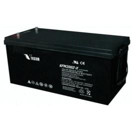 Vision Deep Cycle AGM Fully Sealed Battery 12-200Ah 6FM200Z-X Heavy Duty